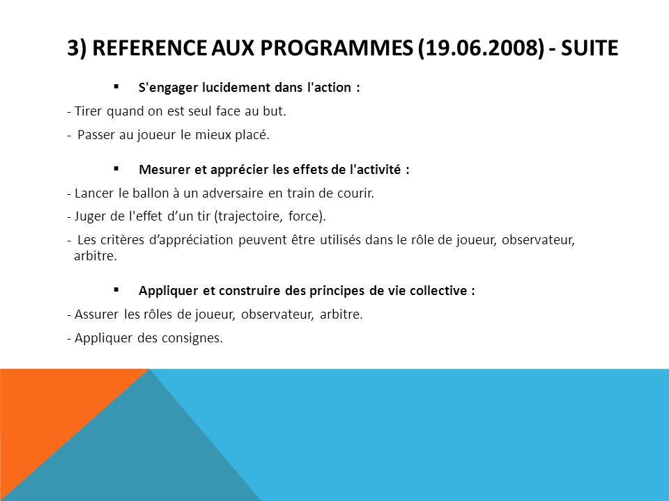 3) REFERENCE AUX PROGRAMMES (19.06.2008) - suite