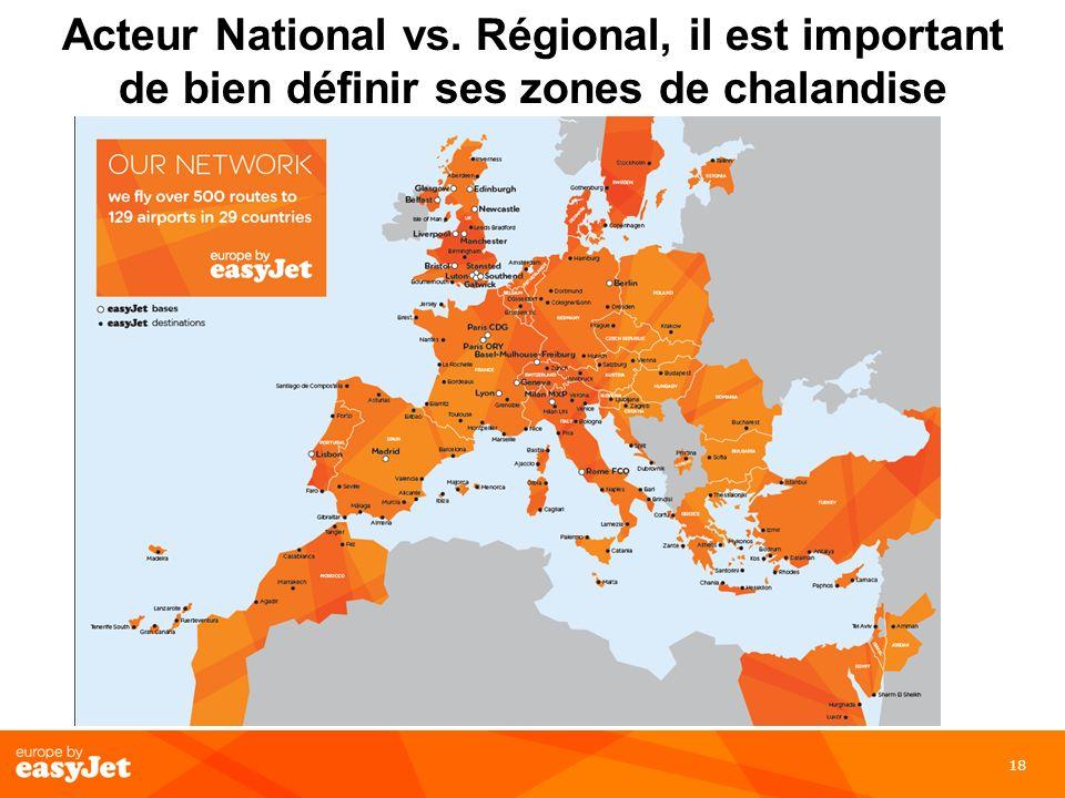 Acteur National vs. Régional, il est important de bien définir ses zones de chalandise