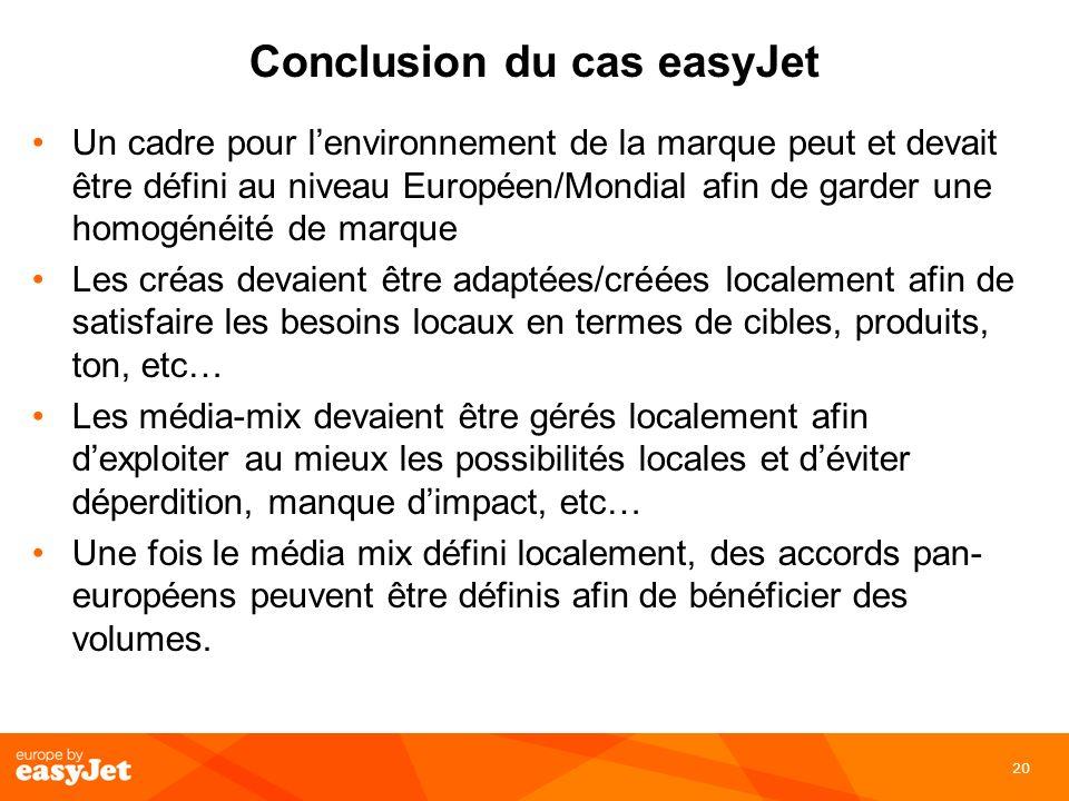 Conclusion du cas easyJet