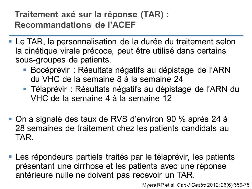 Traitement axé sur la réponse (TAR) : Recommandations de l'ACEF