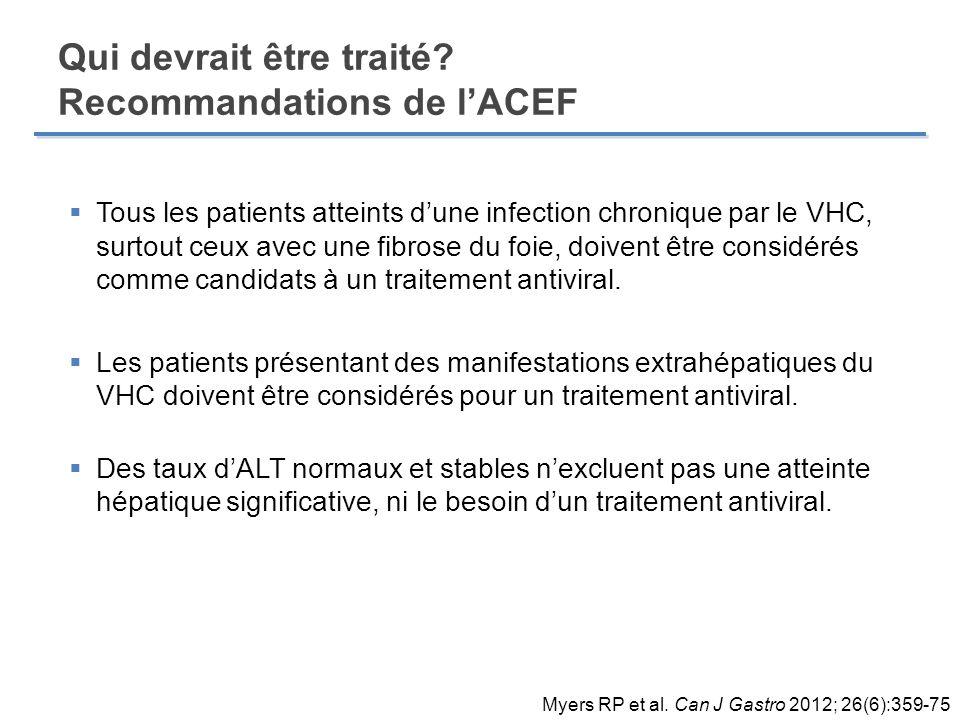 Qui devrait être traité Recommandations de l'ACEF