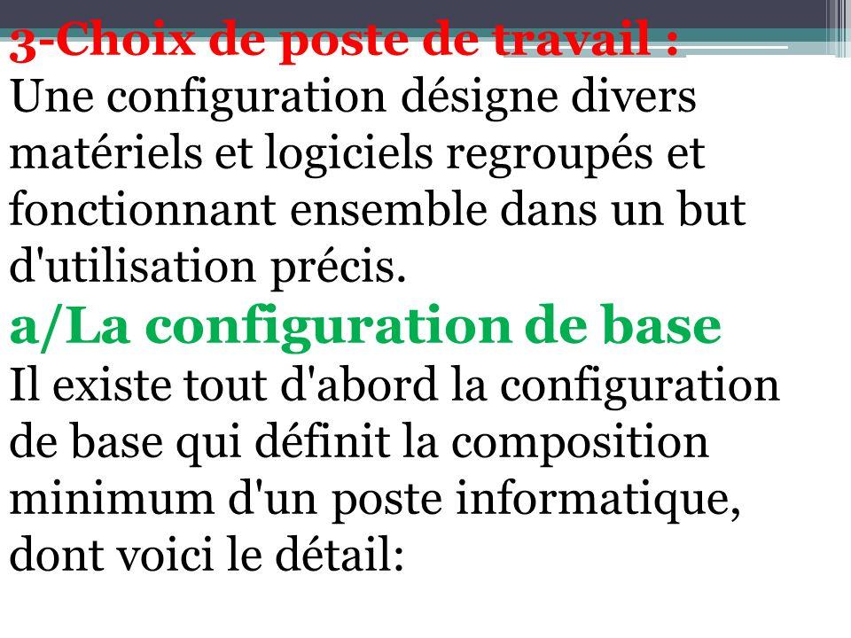 a/La configuration de base
