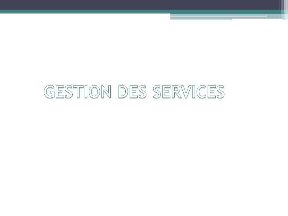 GESTION DES SERVICES