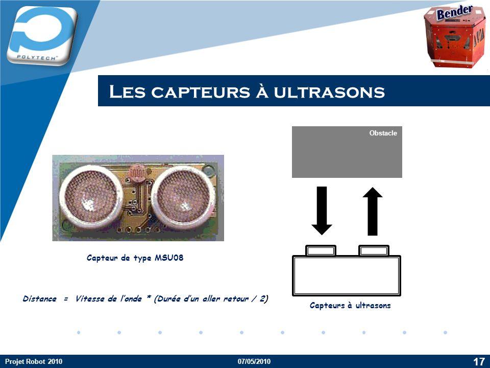 Les capteurs à ultrasons