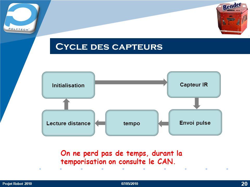 Cycle des capteurs Bender