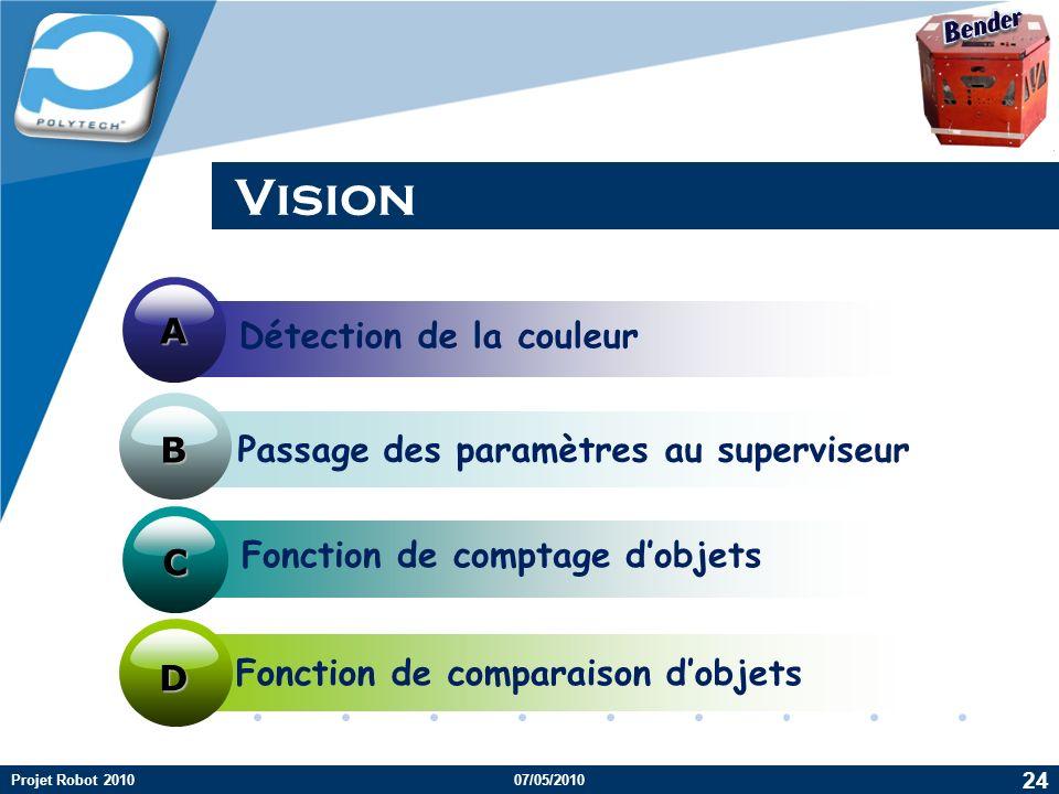 Vision A Détection de la couleur B