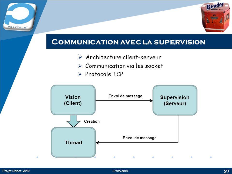 Communication avec la supervision