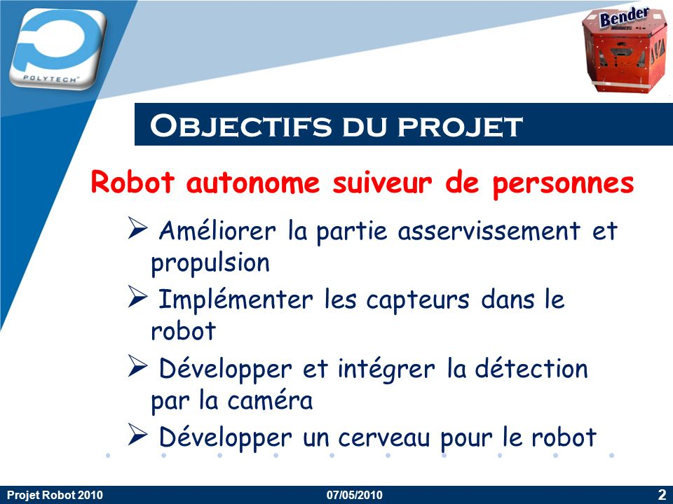 Robot autonome suiveur de personnes