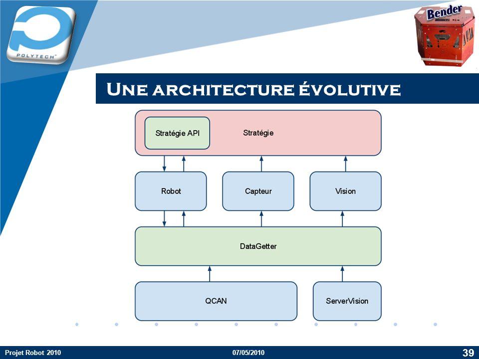 Une architecture évolutive