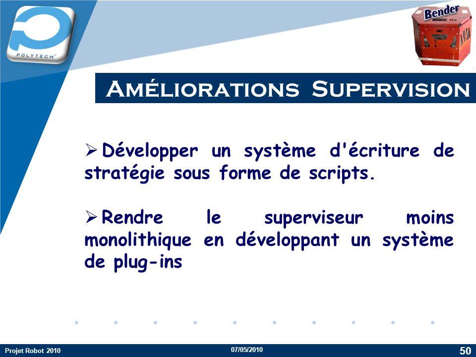 Améliorations Supervision