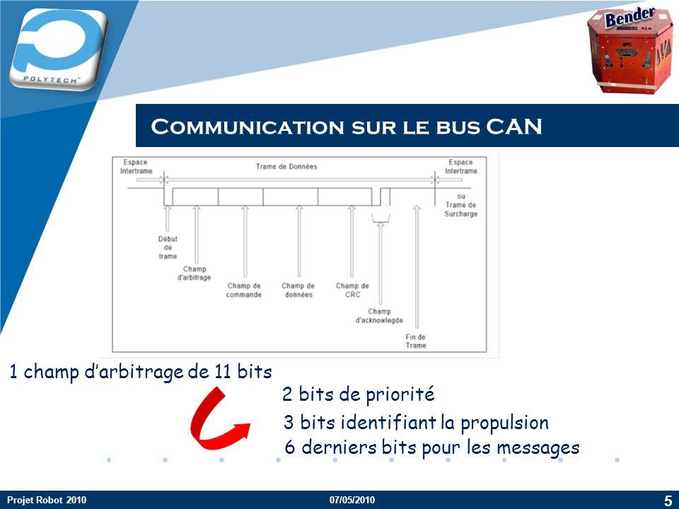 Communication sur le bus CAN
