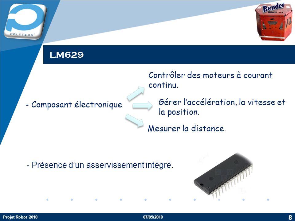 LM629 Bender Contrôler des moteurs à courant continu.
