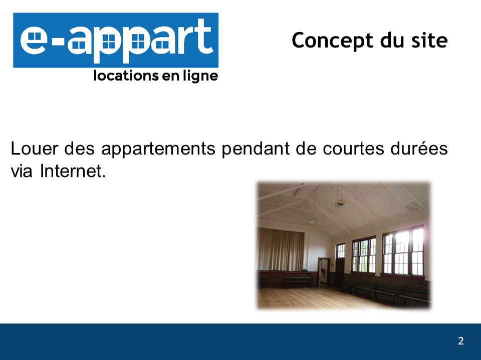 Louer des appartements pendant de courtes durées via Internet.