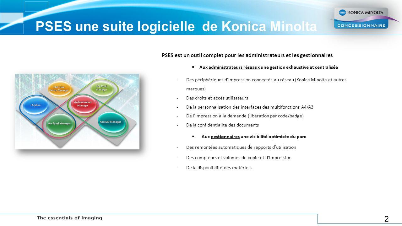 PSES une suite logicielle de Konica Minolta