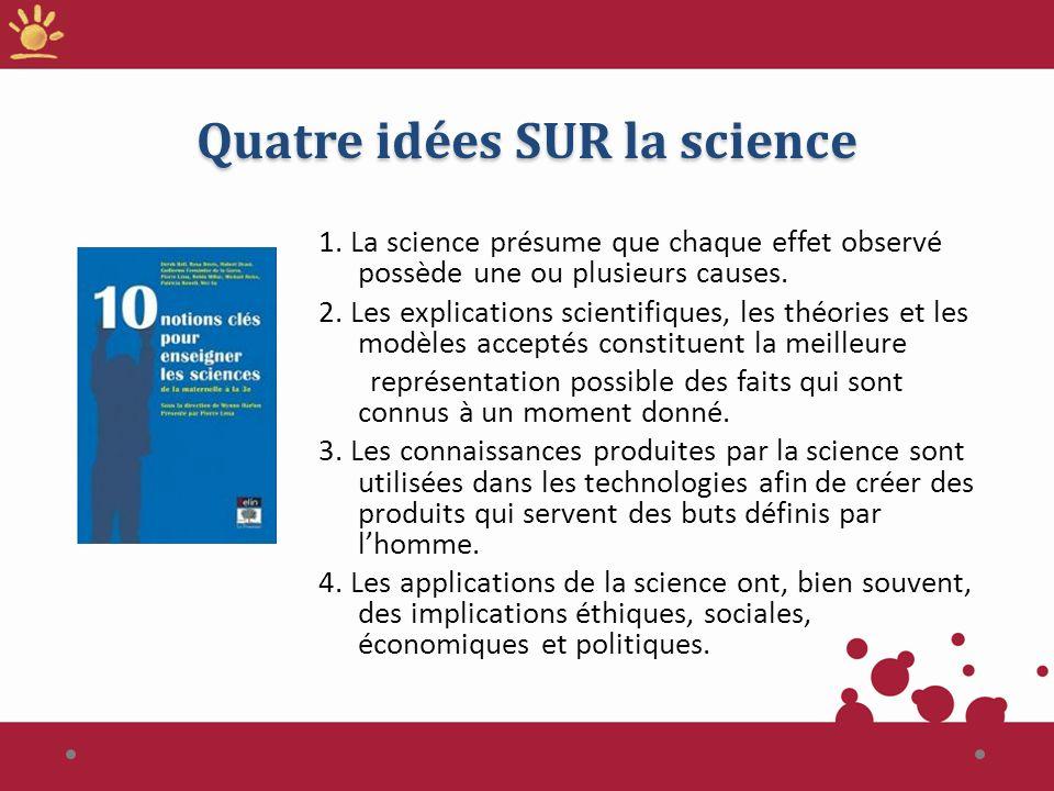 Quatre idées SUR la science