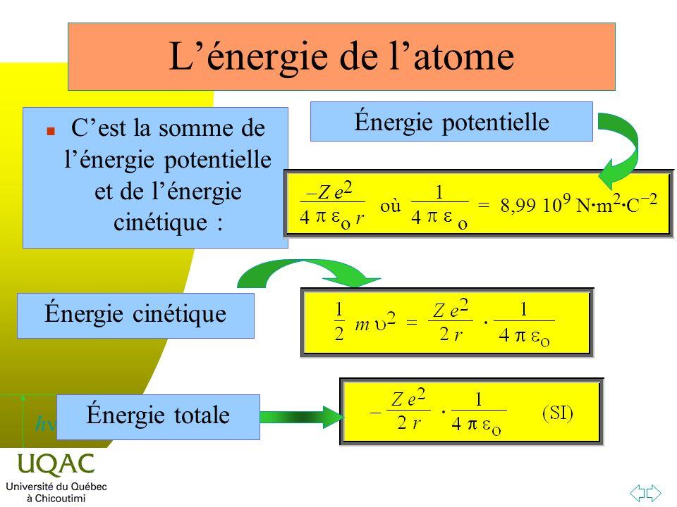 C'est la somme de l'énergie potentielle et de l'énergie cinétique :