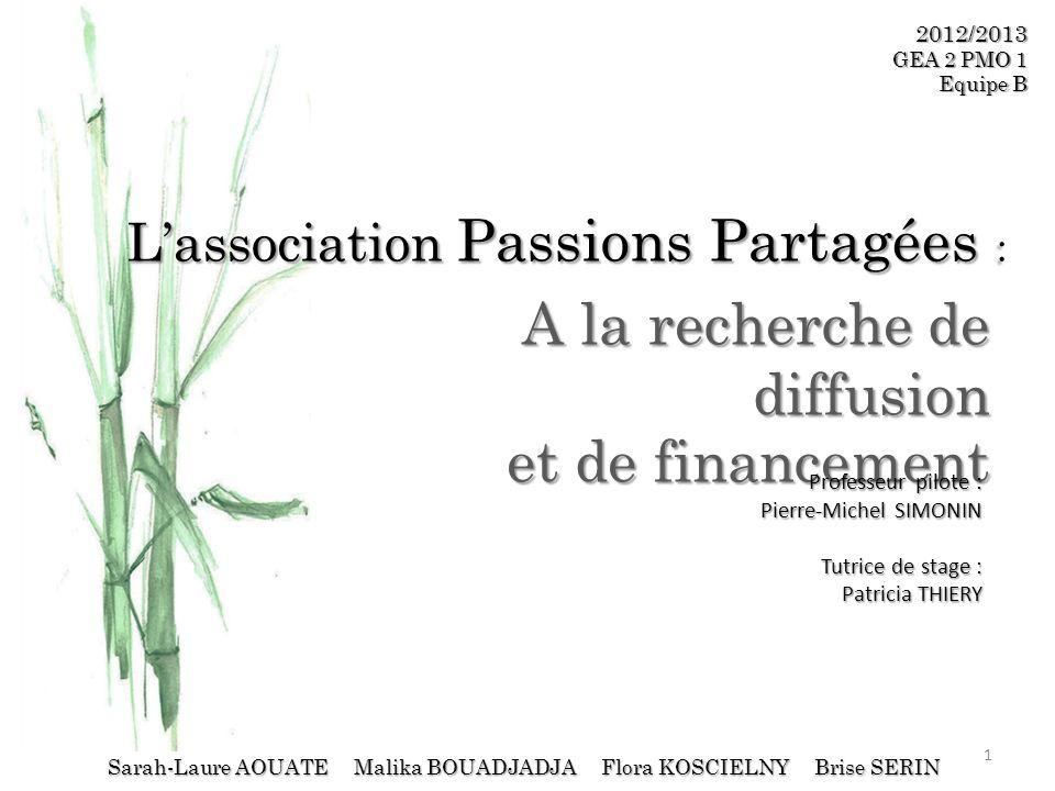 L'association Passions Partagées :