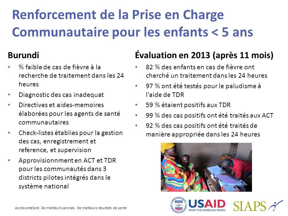 Renforcement de la Prise en Charge Communautaire pour les enfants < 5 ans