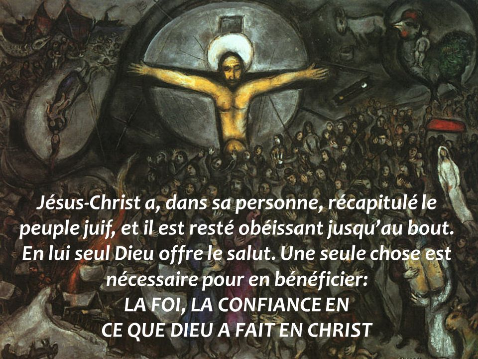 CE QUE DIEU A FAIT EN CHRIST