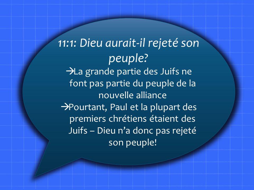 11:1: Dieu aurait-il rejeté son peuple