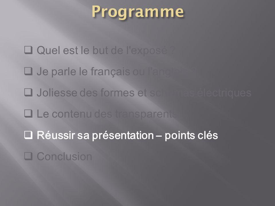 Programme Quel est le but de l exposé
