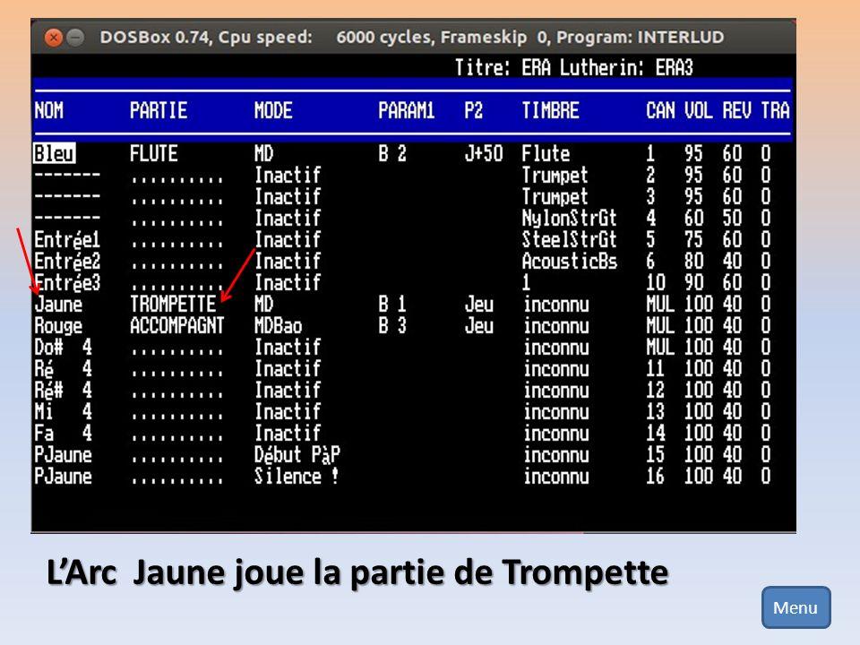 L'Arc Jaune joue la partie de Trompette