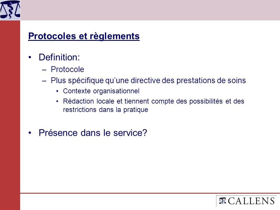 Protocoles et règlements