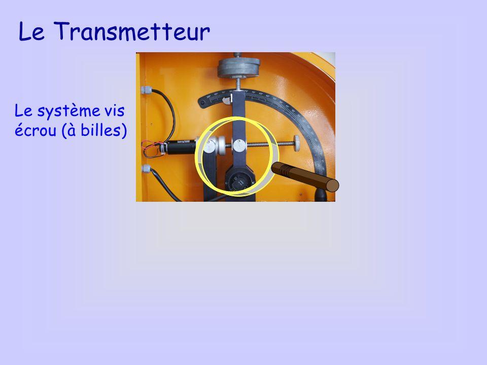 Le Transmetteur Le système vis écrou (à billes)