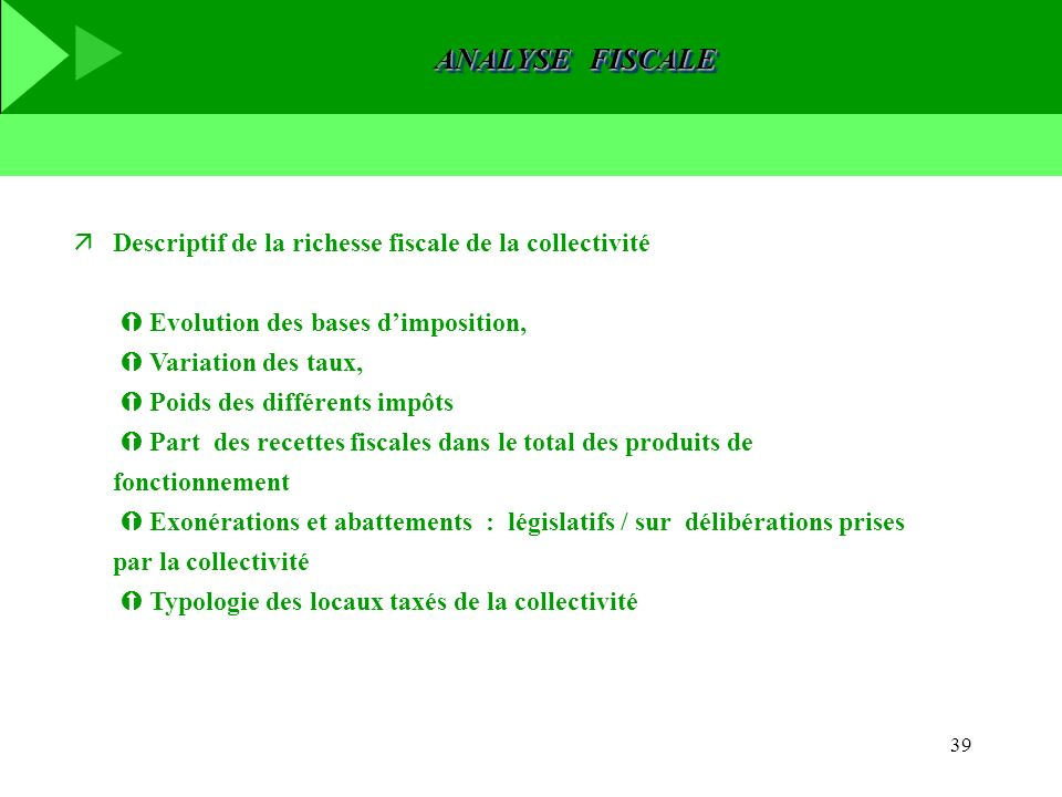 ANALYSE FISCALE