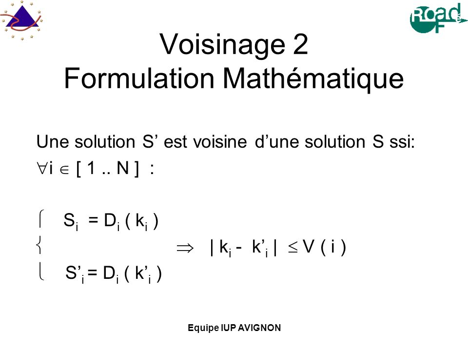 Voisinage 2 Formulation Mathématique