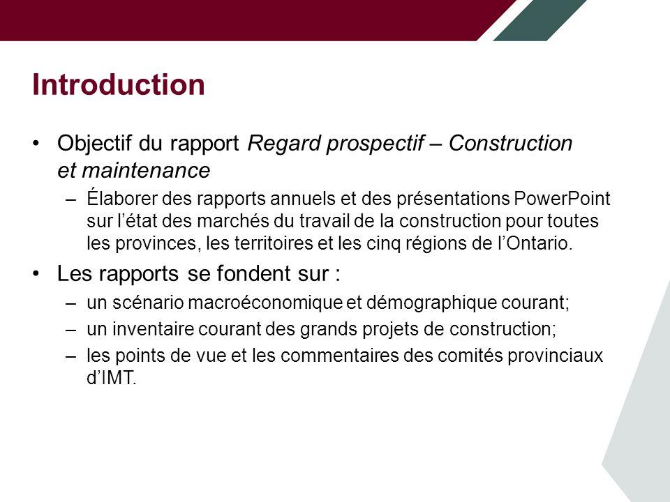 Introduction Objectif du modèle de marché du travail de ConstruForce Canada.
