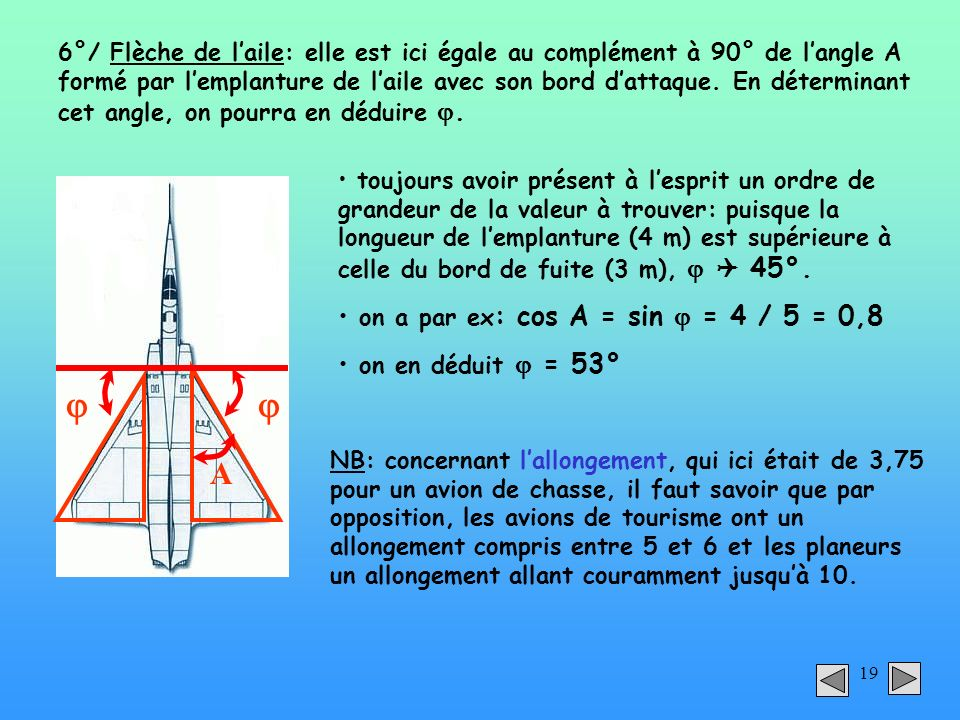   A on a par ex: cos A = sin  = 4 / 5 = 0,8 on en déduit  = 53°