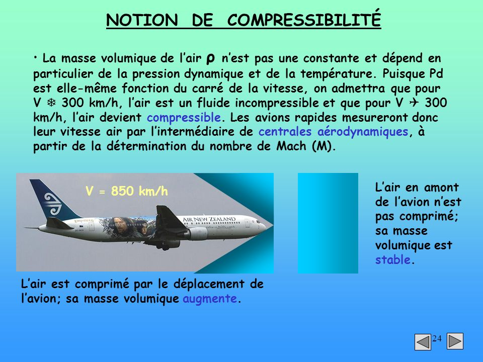 NOTION DE COMPRESSIBILITÉ