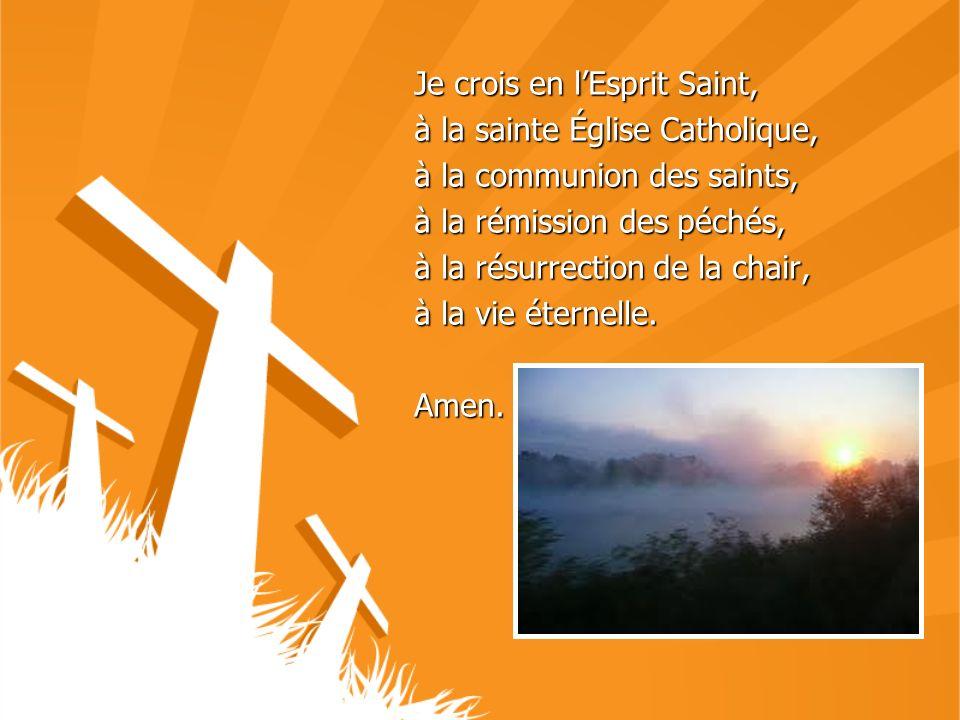 Je crois en l'Esprit Saint,