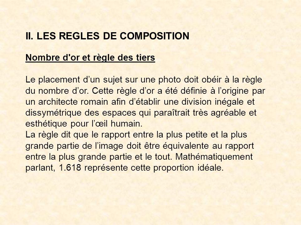 II. LES REGLES DE COMPOSITION