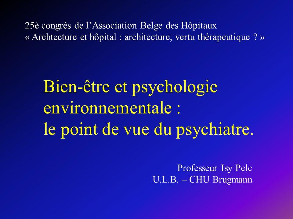 25è congrès de l'Association Belge des Hôpitaux « Archtecture et hôpital : architecture, vertu thérapeutique »