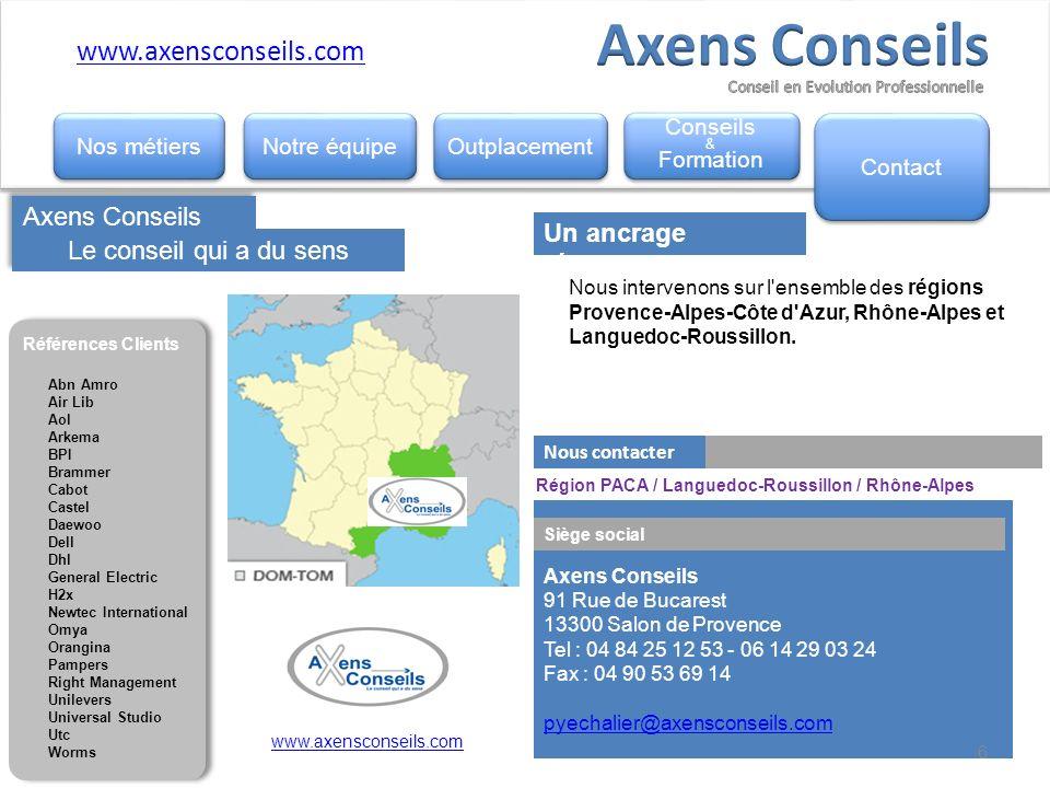 Axens Conseils www.axensconseils.com Axens Conseils Conseils