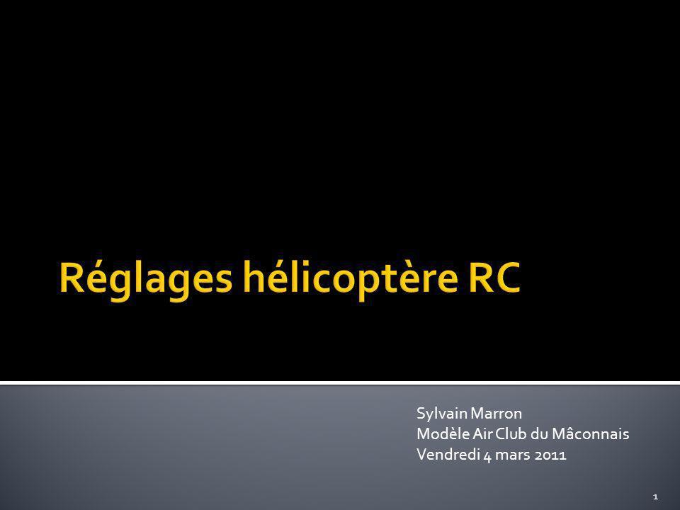 Réglages hélicoptère RC