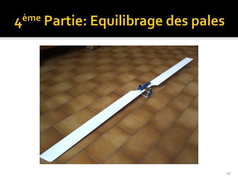 4ème Partie: Equilibrage des pales