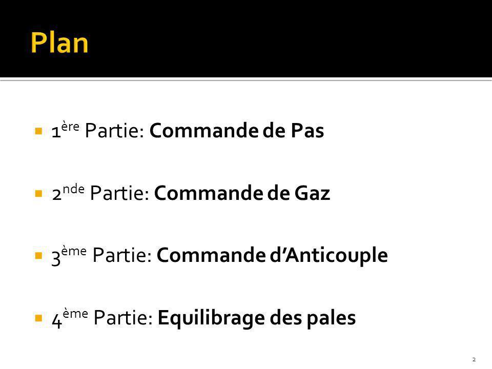 Plan 1ère Partie: Commande de Pas 2nde Partie: Commande de Gaz