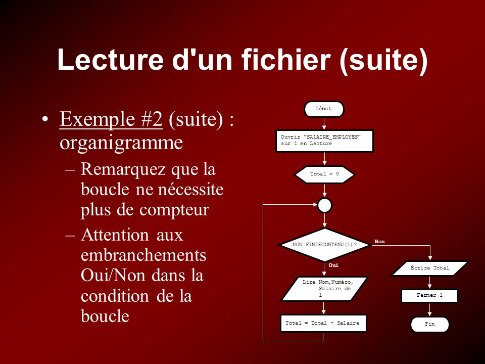 Lecture d un fichier (suite)