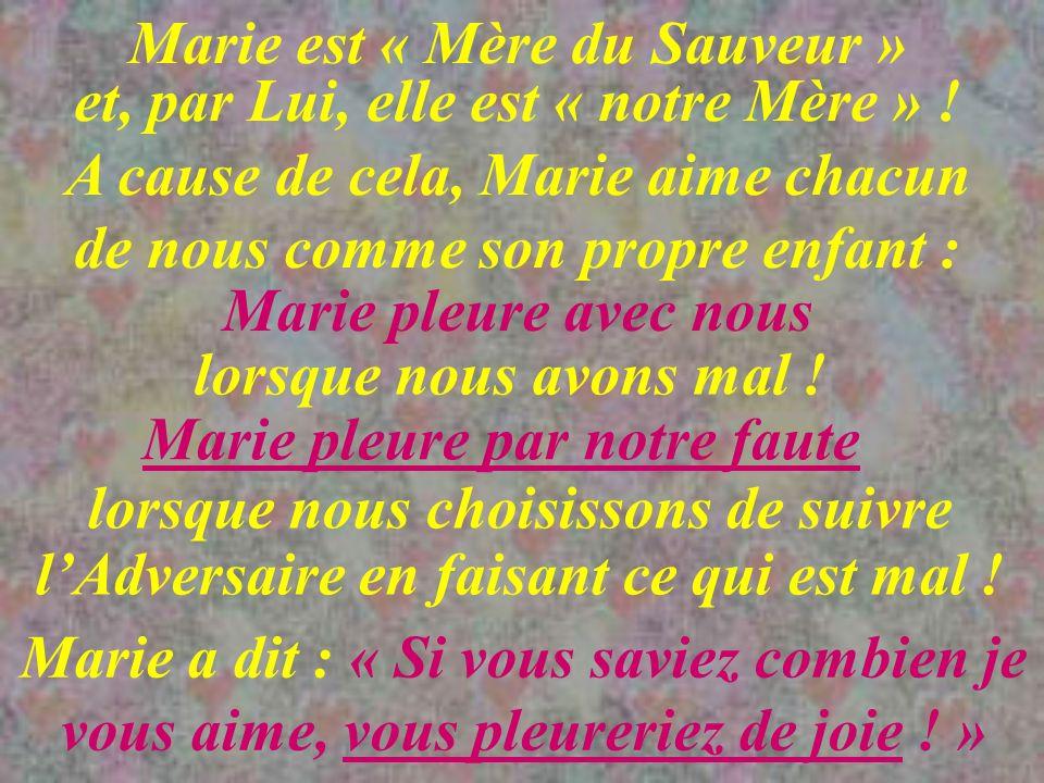 Marie est « Mère du Sauveur » et, par Lui, elle est « notre Mère » !