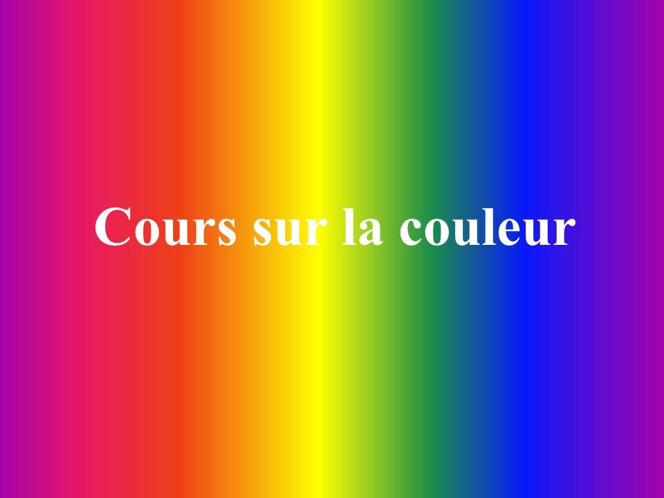 Cours sur la couleur
