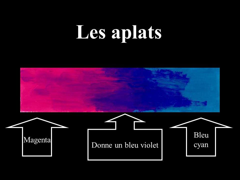 Les aplats Donne un bleu violet Magenta Bleu cyan