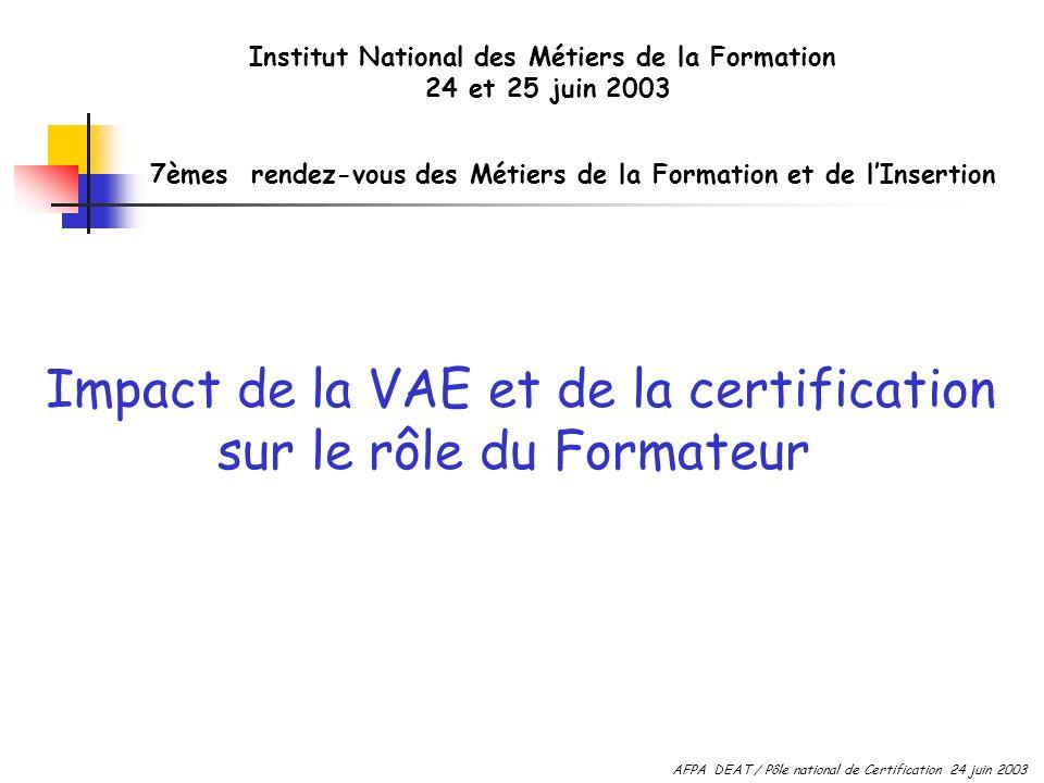 Institut National des Métiers de la Formation