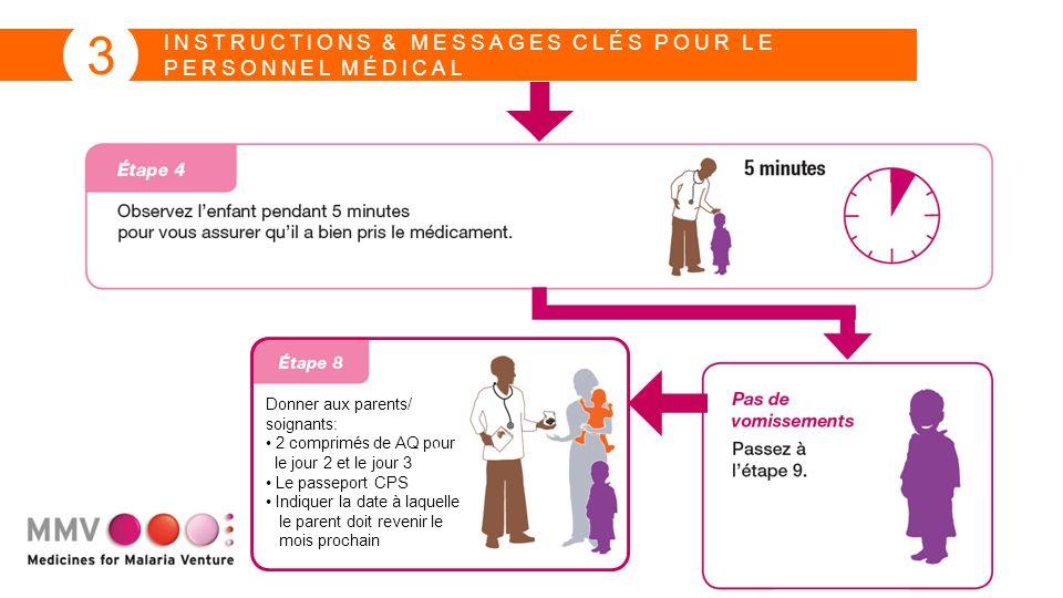 INSTRUCTIONS & MESSAGES CLÉS POUR LE PERSONNEL MÉDICAL