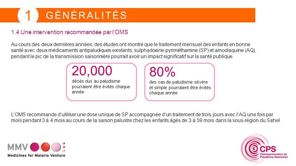 1 GÉNÉRALITÉS 1.5 Médicaments utilisés pour la CPS