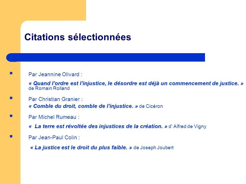 Citations sélectionnées