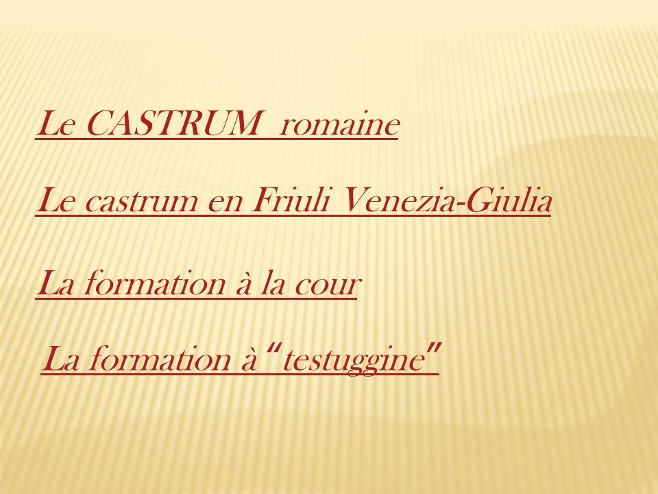 Le CASTRUM romaine Le castrum en Friuli Venezia-Giulia.