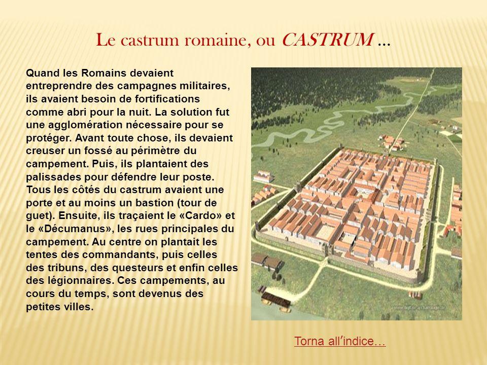Le castrum romaine, ou CASTRUM …